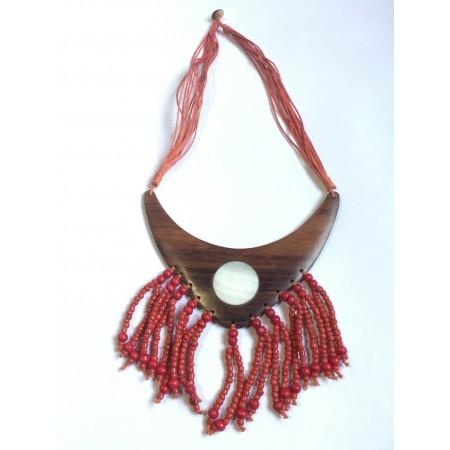 COLLAR DE MADERA Y AVALON